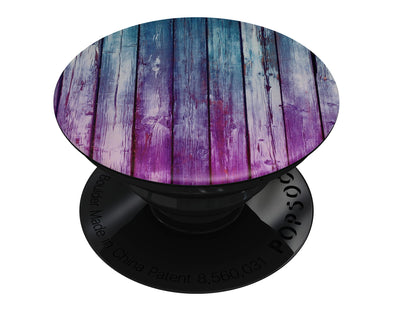Pink & Blue Dyed Wood - Skin Kit for PopSockets and other Smartphone Extendable Grips & Stands