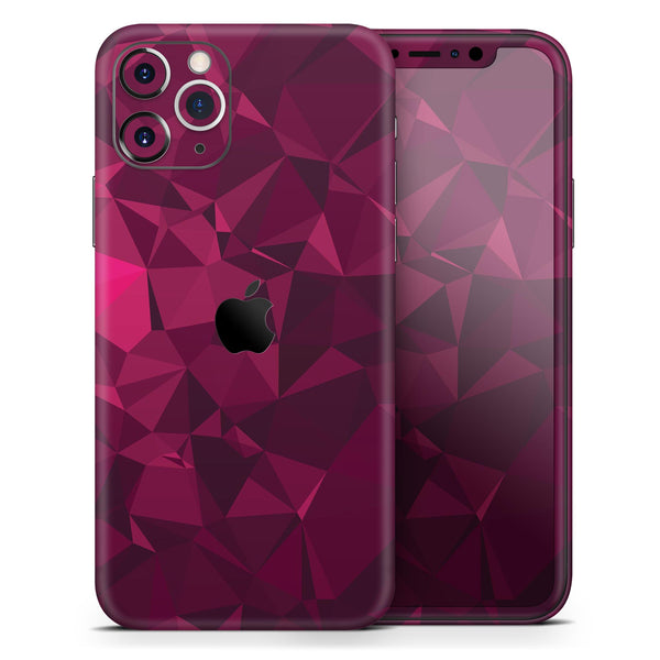 Pink and Red Geometric Triangles - Skin-Kit compatible with the Apple iPhone 12, 12 Pro Max, 12 Mini, 11 Pro or 11 Pro Max (All iPhones Available)