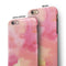Pinkish 4122 Absorbed Watercolor Texture iPhone 6/6s or 6/6s Plus 2-Piece Hybrid INK-Fuzed Case