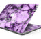 "Purple Marble & Digital Silver Foil V6 - Skin Decal Wrap Kit Compatible with the Apple MacBook Pro, Pro with Touch Bar or Air (11"", 12"", 13"", 15"" & 16"" - All Versions Available)"