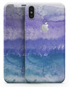 Purple 48 Absorbed Watercolor Texture - iPhone X Skin-Kit