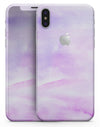 Purple Absorbed Watercolor Texture - iPhone X Skin-Kit