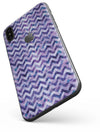 Purple Basic Watercolor Chevron Pattern - iPhone X Skin-Kit