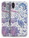 Purple & Blue Flowered - iPhone X Skin-Kit