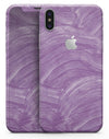 Purple Brush Strokes - iPhone X Skin-Kit