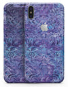 Purple Damask v2 Watercolor Pattern V2 - iPhone X Skin-Kit