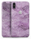 Purple Damask v2 Watercolor Pattern V3 - iPhone X Skin-Kit