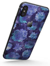 Purple Floral Succulents - iPhone X Skin-Kit