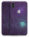 Purple Geometric V11 - iPhone X Skin-Kit