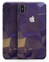 Purple Geometric V12 - iPhone X Skin-Kit