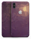 Purple Geometric V18 - iPhone X Skin-Kit