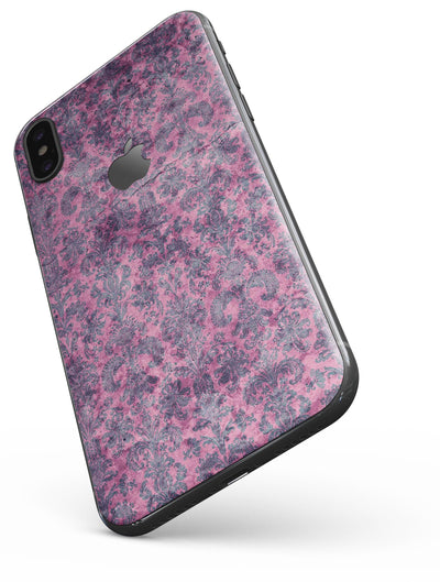 Purple Grungy Royal Pattern - iPhone X Skin-Kit