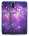 Purple & Pink Space - iPhone X Skin-Kit