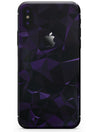 Purple Rain Geometric Triangles  - iPhone X Skin-Kit