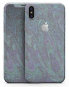Purple Slate Marble Surface V22 - iPhone X Skin-Kit