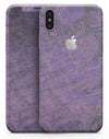 Purple Slate Marble Surface V30 - iPhone X Skin-Kit