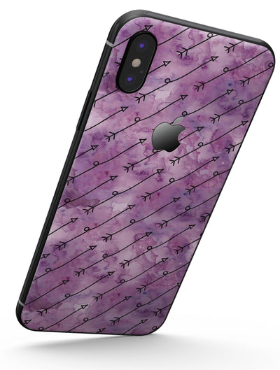 Purple Tribal Arrow Pattern - iPhone X Skin-Kit