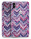 Purple Watercolor Chevron Pattern - iPhone X Skin-Kit
