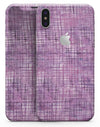 Purple Watercolor Cross Hatch - iPhone X Skin-Kit