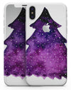 Purple Watercolor Evergreen Tree - iPhone X Skin-Kit