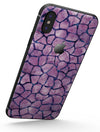 Purple Watercolor Giraffe Pattern - iPhone X Skin-Kit
