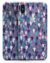 Purple and Blue Upside Down Teardrop Watercolor Pattern - iPhone X Skin-Kit