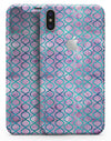 Purple and Blue Watercolor Helix Pattern - iPhone X Skin-Kit