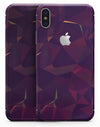 Purple and Orange Geometric Shapes - iPhone X Skin-Kit
