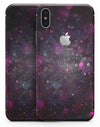 Purple and Pink Unfocused Glowing Light Orbs - iPhone X Skin-Kit