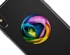Rainbow Dyed Rose V3 - Skin Kit for PopSockets and other Smartphone Extendable Grips & Stands