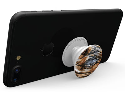 Raw Aged Knobby Wood - Skin Kit for PopSockets and other Smartphone Extendable Grips & Stands