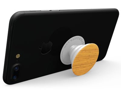 Real Light Bamboo Wood - Skin Kit for PopSockets and other Smartphone Extendable Grips & Stands