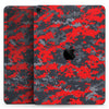 "Red and Gray Digital Camouflage - Full Body Skin Decal for the Apple iPad Pro 12.9"", 11"", 10.5"", 9.7"", Air or Mini (All Models Available)"