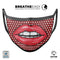 Red and White Polka Luscious Lips - Made in USA Mouth Cover Unisex Anti-Dust Cotton Blend Reusable & Washable Face Mask with Adjustable Sizing for Adult or Child