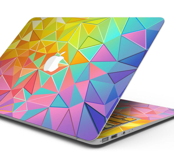 "Retro Geometric - Skin Decal Wrap Kit Compatible with the Apple MacBook Pro, Pro with Touch Bar or Air (11"", 12"", 13"", 15"" & 16"" - All Versions Available)"