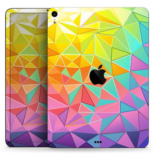 "Retro Geometric - Full Body Skin Decal for the Apple iPad Pro 12.9"", 11"", 10.5"", 9.7"", Air or Mini (All Models Available)"