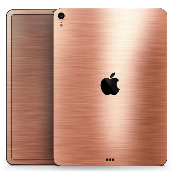 "Rose Gold Digital Brushed Surface V2 - Full Body Skin Decal for the Apple iPad Pro 12.9"", 11"", 10.5"", 9.7"", Air or Mini (All Models Available)"