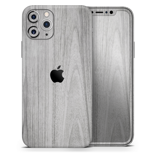 Smooth Gray Wood - Skin-Kit for the Apple iPhone 11, 11 Pro or 11 Pro Max