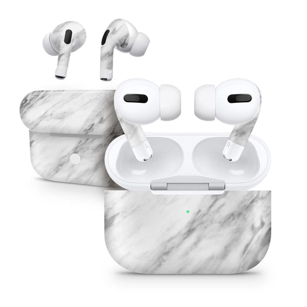 Slate Marble Surface V10 - Full Body Skin Decal Wrap Kit for the Wireless Bluetooth Apple Airpods Pro, AirPods Gen 1 or Gen 2 with Wireless Charging