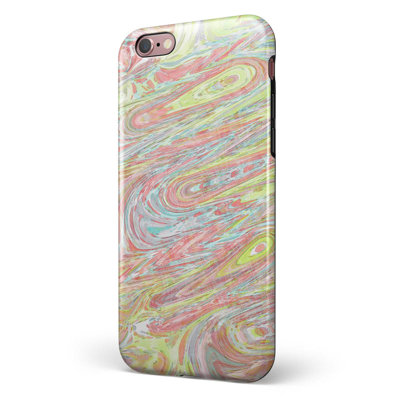 Slate Marble Surface V36 iPhone 6/6s or 6/6s Plus 2-Piece Hybrid INK-Fuzed Case