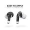 Smooth Black Marble - Full Body Skin Decal Wrap Kit for the Wireless Bluetooth Apple Airpods Pro, AirPods Gen 1 or Gen 2 with Wireless Charging