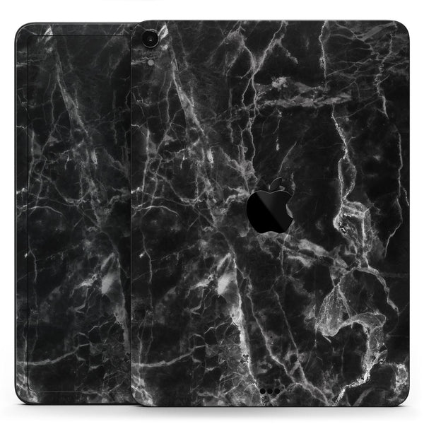 "Smooth Black Marble - Full Body Skin Decal for the Apple iPad Pro 12.9"", 11"", 10.5"", 9.7"", Air or Mini (All Models Available)"