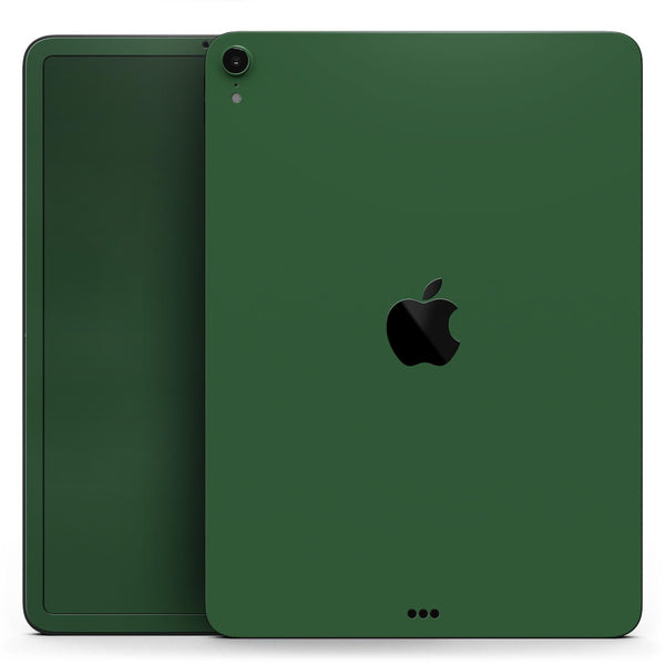 "Solid Hunter Green - Full Body Skin Decal for the Apple iPad Pro 12.9"", 11"", 10.5"", 9.7"", Air or Mini (All Models Available)"