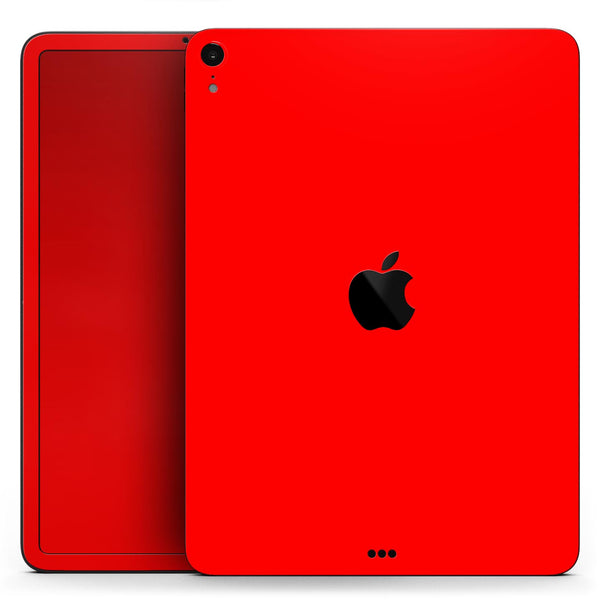 "Solid Red - Full Body Skin Decal for the Apple iPad Pro 12.9"", 11"", 10.5"", 9.7"", Air or Mini (All Models Available)"