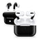 Solid State Black - Full Body Skin Decal Wrap Kit for the Wireless Bluetooth Apple Airpods Pro, AirPods Gen 1 or Gen 2 with Wireless Charging