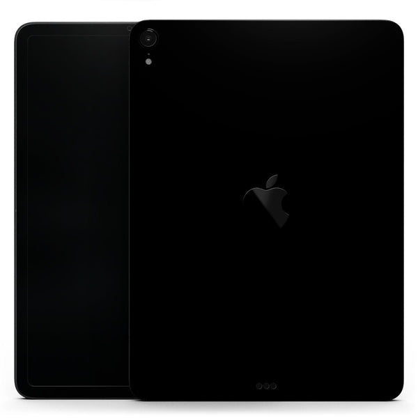 "Solid State Black - Full Body Skin Decal for the Apple iPad Pro 12.9"", 11"", 10.5"", 9.7"", Air or Mini (All Models Available)"