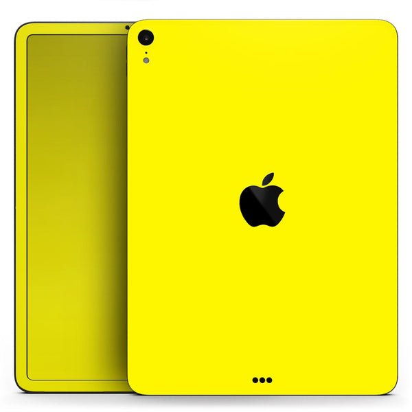 "Solid Yellow - Full Body Skin Decal for the Apple iPad Pro 12.9"", 11"", 10.5"", 9.7"", Air or Mini (All Models Available)"