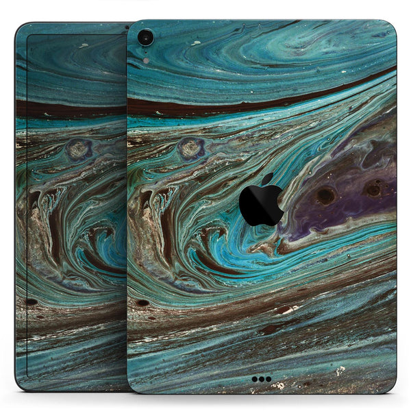 "Swirling Dark Acrylic Marble - Full Body Skin Decal for the Apple iPad Pro 12.9"", 11"", 10.5"", 9.7"", Air or Mini (All Models Available)"