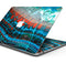 "Teal Blue Red Dragon Vein Agate V2 - Skin Decal Wrap Kit Compatible with the Apple MacBook Pro, Pro with Touch Bar or Air (11"", 12"", 13"", 15"" & 16"" - All Versions Available)"