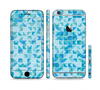 The Abstarct Blue Triangular Cubes Sectioned Skin Series for the Apple iPhone 6/6s